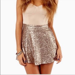 🌺3for$25 Tobi Gold Sequins Skater Skirt